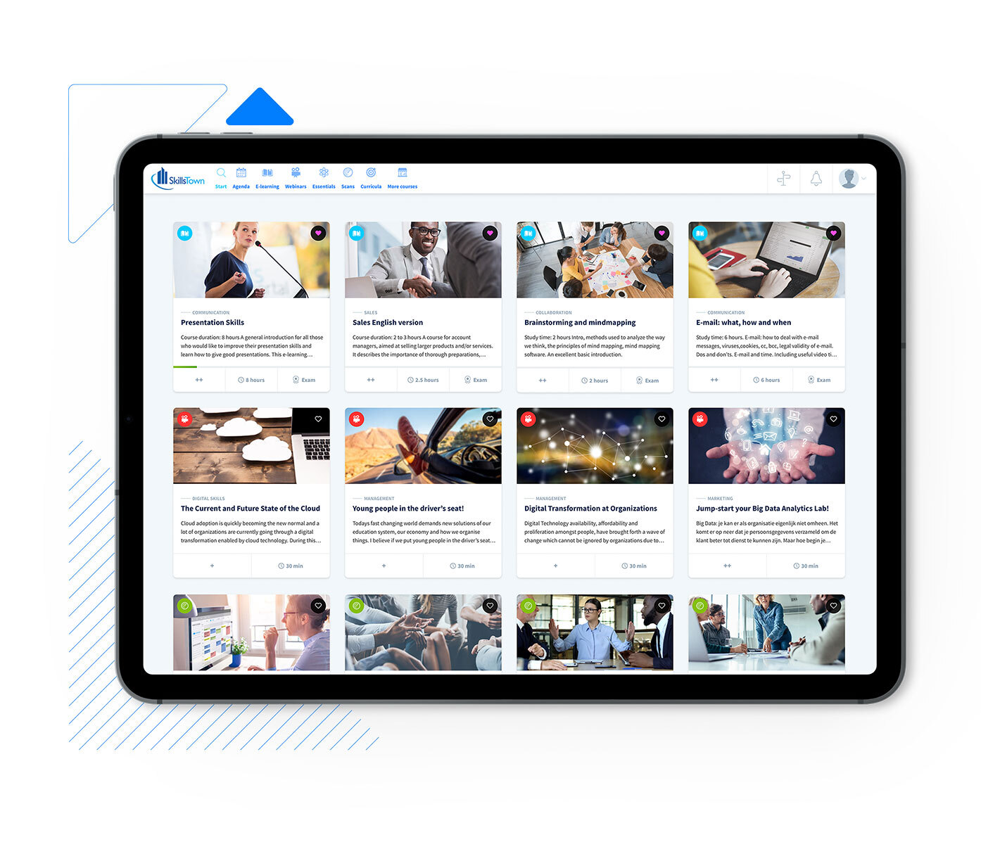 online learning platform skillstown